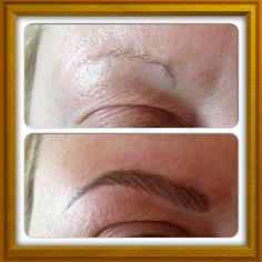 semi permanent makeup before after